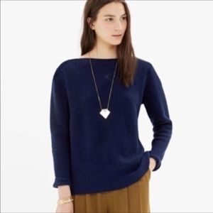 Madewell Assembly Bostneck Sweater Navy
